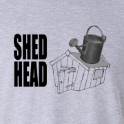Shed Head Gardener Horticulturist Graphic Sport Grey Tee Shirt