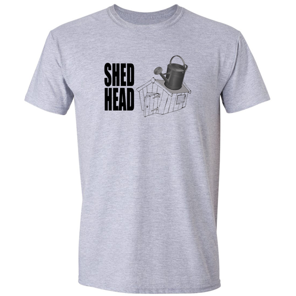 Buy Shed Head Gardener Horticulturist Graphic Sport Grey Tee Shirt