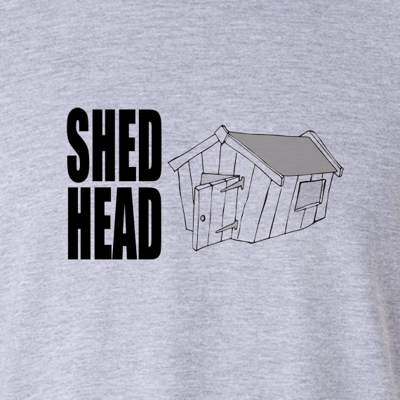 Buy Shed Head Graphic Sport Grey Tee Shirt