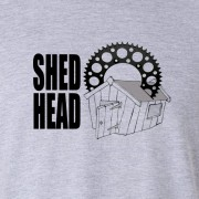 Shed Head Motor Cycle Graphic Sport Grey Tee Shirt