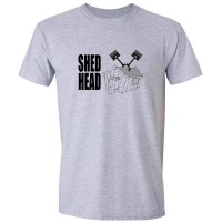 Buy Shed Head Vee Twin Motor Cycle Graphic Sport Grey Tee Shirt