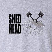 Shed Head Vee Twin Motor Cycle Graphic Sport Grey Tee Shirt