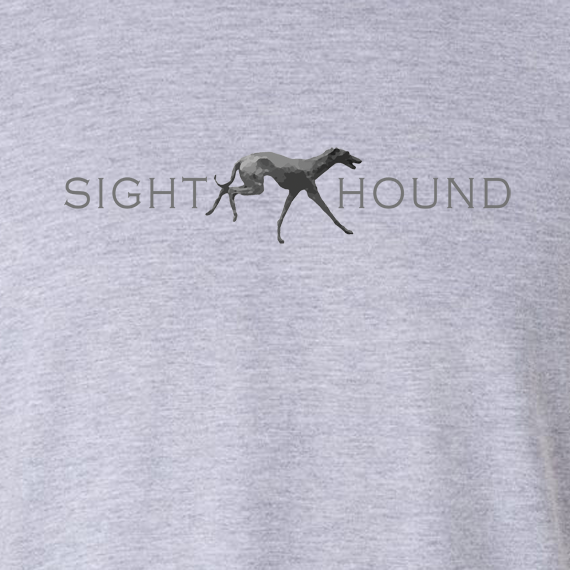Buy Sight Hound Graphic Sport Grey Tee Shirt
