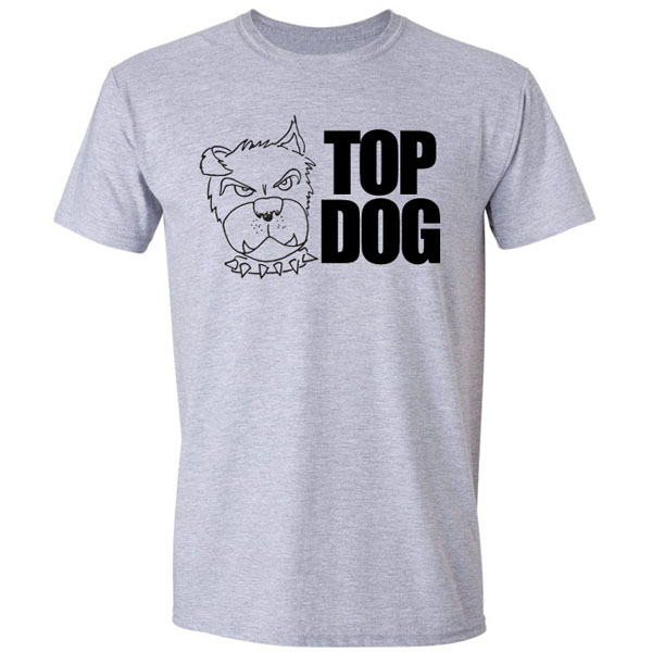 Buy Top Dog Cartoon Graphic Grey Tee Shirt