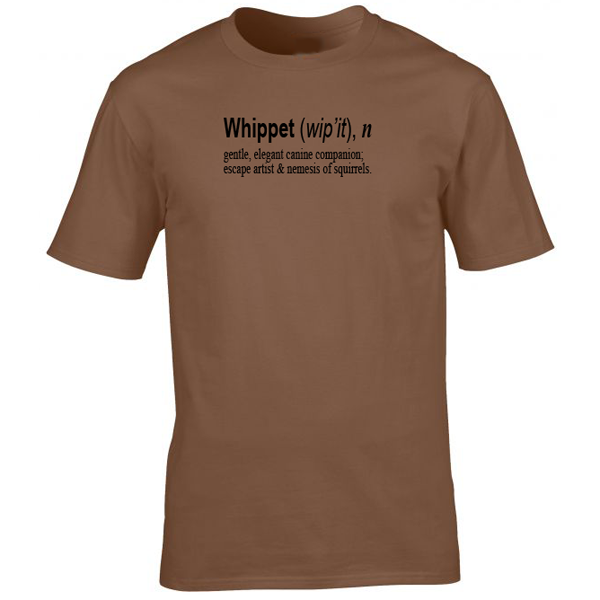 Buy Whippet Quote Graphic Sport Brown Tee Shirt