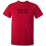 Buy Whippet Quote Graphic Red Tee Shirt
