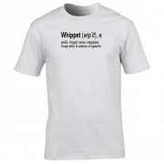 Whippet Quote Graphic White Tee Shirt