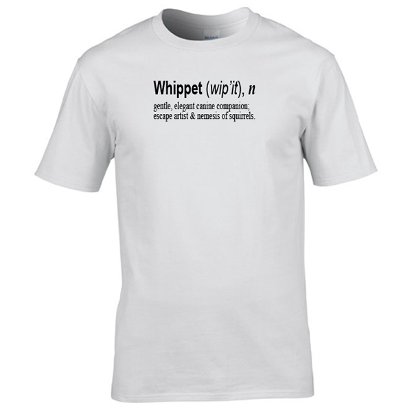 Buy Whippet Quote Graphic White Tee Shirt
