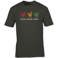 Buy Chicken Ready Steady Crow Graphic Tee Shirt Charcoal