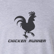 Chicken Runner Cartoon Graphic Tee Shirt grey