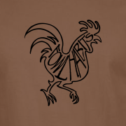 Buy Fowl Habits Chicken Graphic Tee Shirt brown