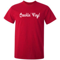 Buy Crackling Vinyl Funky Graphic Red Tee Shirt