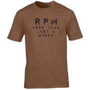 RPM Vinyl Audio Graphic Brown Tee Shirt