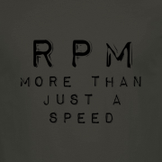 RPM Vinyl Audio Graphic Charcoal Tee Shirt