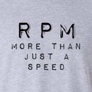 RPM Vinyl Audio Graphic Grey Tee Shirt