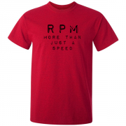 RPM Vinyl Audio Graphic Red Tee Shirt