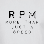 RPM Vinyl Audio Graphic White Tee Shirt
