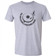 Vinyl Junkie Turntable Graphic Grey Tee Shirt