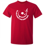 Vinyl Junkie Turntable Graphic Red Tee Shirt