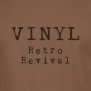 Vinyl Retro Revival Graphic Brown Tee Shirt