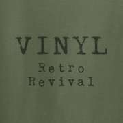 Vinyl Retro Revival Graphic Green Tee Shirt