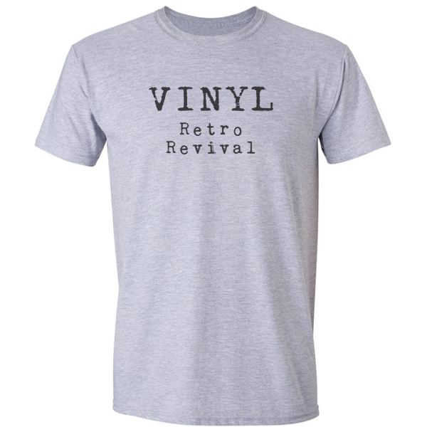 Buy Vinyl Retro Revival Graphic Grey Tee Shirt
