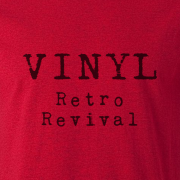 Vinyl Retro Revival Graphic Red Tee Shirt