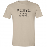 Vinyl Retro Revival Graphic Sand Tee Shirt
