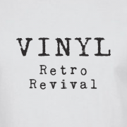 Vinyl Retro Revival Graphic White Tee Shirt