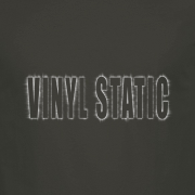 Audio Vinyl Static Graphic Charcoal Tee Shirt