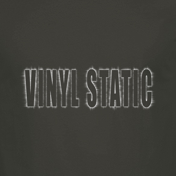 Buy Audio Vinyl Static Graphic Charcoal Tee Shirt