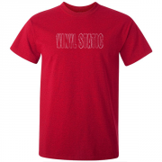 Audio Vinyl Static Graphic Red Tee Shirt