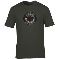 Buy Vinyl Revolution Evolution Graphic Charcoal Tee Shirt
