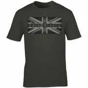 Union flag Edify Brand Logo Graphic Charcoal Tee Shirt