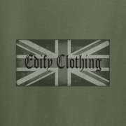 Union flag Edify Brand Logo Graphic Green Tee Shirt