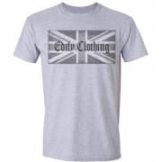 Union flag Edify Brand Logo Graphic Grey Tee Shirt