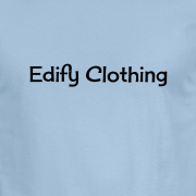 Edify Clothing 1950s Classic Logo Graphic Light Blue Tee Shirt