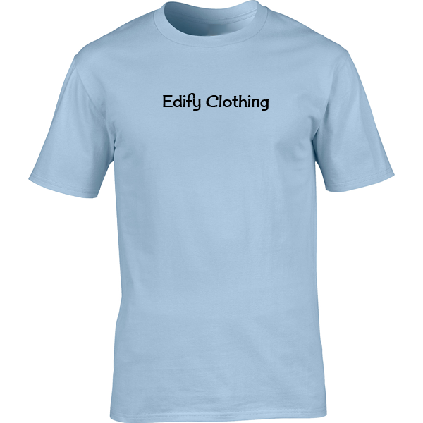 Buy Edify Clothing 1950s Classic Logo Graphic Light Blue Tee Shirt