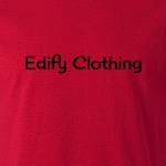 Buy Edify Clothing 1950s Classic Logo Graphic Red Tee Shirt