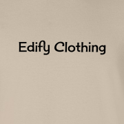 Edify Clothing 1950s Classic Logo Graphic Sand Tee Shirt