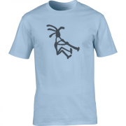 Kokopelli Piper Graphic Light Blue Tee Shirt