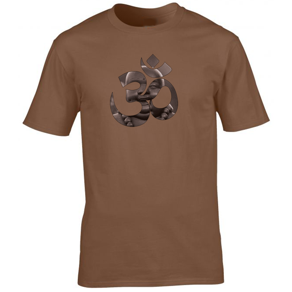 Buy Buddha OM Yoga Spiritual Graphic Tee Shirt Brown