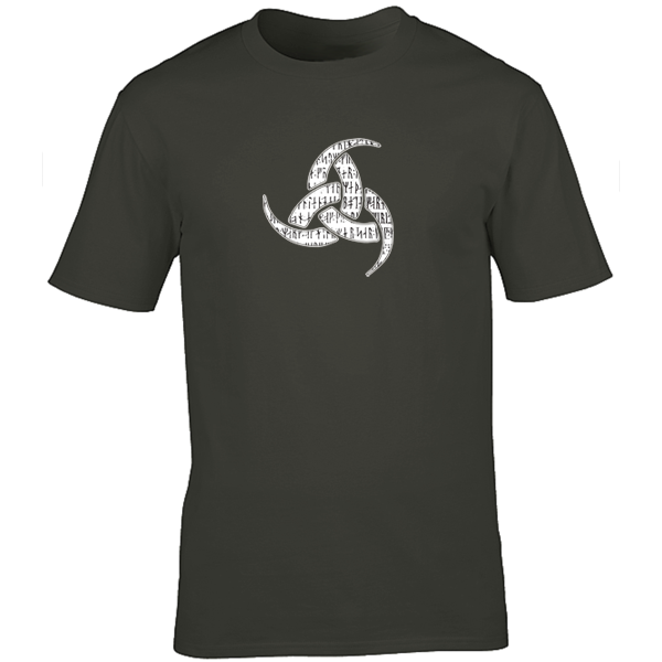 Buy Viking Odin Drinking Horn Triskelion Graphic Charcoal Tee Shirt