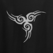 Tribal Tattoo Triskellion Celtic Viking Pagan Graphic Black Tee Shirt