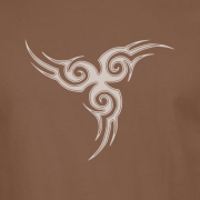 Tribal Tattoo Triskellion Celtic Viking Pagan Graphic Brown Tee Shirt
