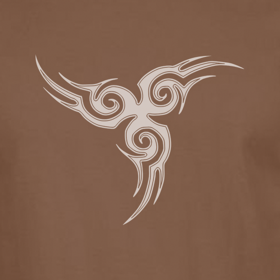 Buy Tribal Tattoo Triskellion Celtic Viking Pagan Graphic Brown Tee Shirt