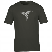 Tribal Tattoo Triskellion Celtic Viking Pagan Graphic Charcoal Tee Shirt