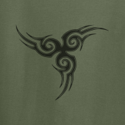 Tribal Tattoo Triskellion Celtic Viking Pagan Graphic Green Tee Shirt