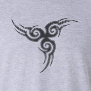 Tribal Tattoo Triskellion Celtic Viking Pagan Graphic Grey Tee Shirt
