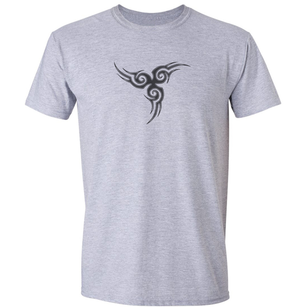 Buy Tribal Tattoo Triskellion Celtic Viking Pagan Graphic Grey Tee Shirt